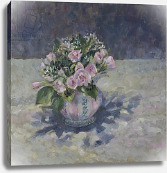 Постер Уэльс Сью (совр) Pinks in stripey jug, 2013,