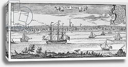Постер Школа: Английская 19в. New York in 1732, illustration from Volume V of 'Narrative and Critical History of America', 1887
