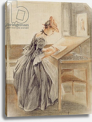 Постер Сэндби Поль A Lady Copying at a Drawing Table, c.1760-70