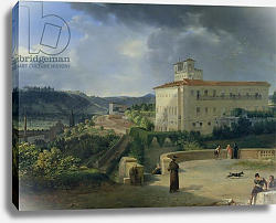 Постер Таунай Николя View of the Villa Medici, Rome, 1813