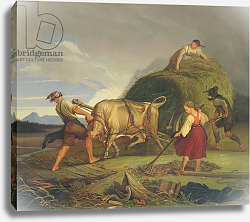 Постер Васман Рудольф Harvesting the Hay Before the Storm, 1844