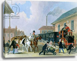 Постер Поллард Джеймс The Louth-London Royal Mail Travelling by Train from Peterborough East in December 1845