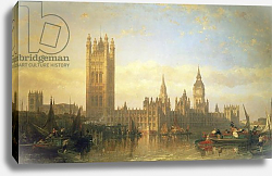 Постер Робертс Давид New Palace of Westminster from the River Thames
