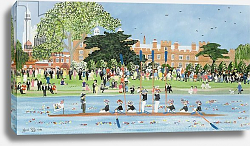 Постер Джоел Джуди The Procession of Boats at Eton College