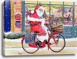 Постер Тодд Тони (совр) Father Christmas on a Bicycle