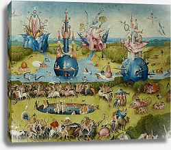 Постер Босх Иероним The Garden of Earthly Delights: Allegory of Luxury, central panel of triptych, c.1500 4