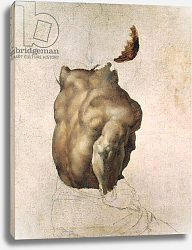 Постер Жерико Теодор Study of a Torso for The Raft of the Medusa, 1818