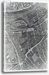Постер Бретез Луи (карты) Plan of Paris, known as the 'Plan de Turgot', engraved by Claude Lucas, 1734-39 4