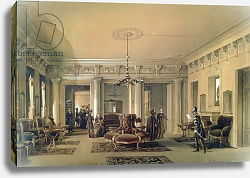 Постер Премацци Луиджи The Waiting Room of the Stagecoach Station in St. Petersburg, 1848