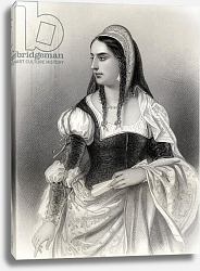 Постер Стаал Пьер (грав) Isabella I 'The Catholic', illustration from 'World Noted Women' by Mary Cowden Clarke, 1858