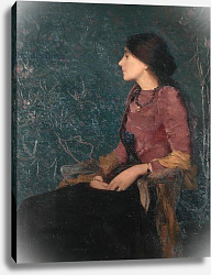 Постер Аман Жан Эдмон Seated Portrait of Thadee-Caroline Jacquet, later Madame Aman-Jean, before 1892