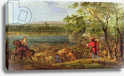 Постер Мюлен Адам The Arrival of the Pontoneers for the Crossing of the Rhine, late 17th century