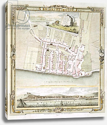 Постер Школа: Английская 18в. Map of Brighton by Thomas Yeakell and William Gardner, engraved by Whitchurch, 1779