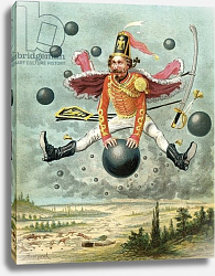 Постер Бишар Альфонс Baron Munchausen riding a cannonball during the fight with Tippoo, c.1886