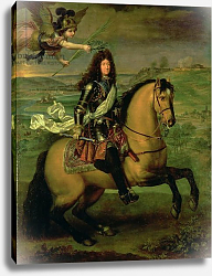Постер Мигнар Пьер Equestrian Portrait of Louis XIV Crowned by Victory, c.1692