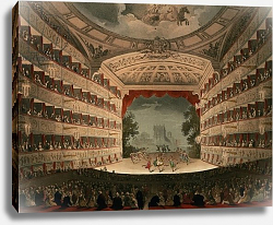 Постер Роуландсон Томас New Covent Garden Theatre, 1810, from 'Ackermann's Microcosm of London'