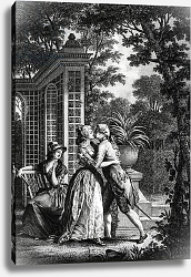 Постер Монсье Николя The First Kiss of Love, illustration from 'La Nouvelle Heloise' by Jean-Jacques Rousseau