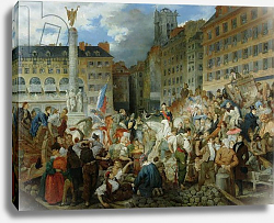 Постер Лафейт Проспер The Duke of Orleans Crossing the Place du Chatelet on 31st July 1830
