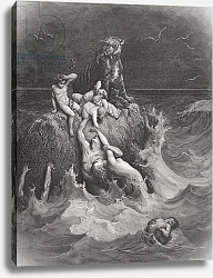 Постер Доре Гюстав The Deluge, illustration from Dore's 'The Holy Bible', engraved by Pannemaker, 1866