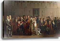Постер Бойли Луи Reunion of Artists in the Studio of Isabey, 1798