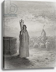 Постер Доре Гюстав Jacob Keeping Laban's Flock, illustration from Dore's 'The Holy Bible', engraved by Pannemaker, 1866
