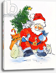 Постер Мэттьюз Диана (совр) Father Christmas and Kittens, 1996
