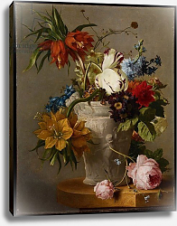 Постер Ос Джордж An Arrangement with Flowers, 19th century