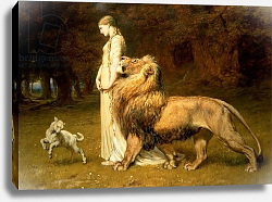 Постер Ривейре Бритон Una and the Lion, from Spenser's Faerie Queene, 1880