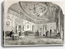 Постер Reception room of the famous French photographer. Original, from drawing of Lancelot, published on L