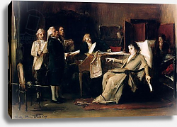 Постер Мункачи Михай Mozart directing his Requiem on his deathbed