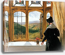 Постер Лэндсир Эдвин Duchess of Abercorn looking out of a window