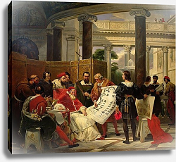Постер Верне Эмиль Pope Julius II ordering to construct St. Peter's, 1827