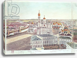 Постер Гадоле (Москва) Panorama of Moscow, detail of the Kremlin cathedrals, 1819