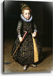Постер Морелсе Паулюс Portrait of a four-year old boy with club and ball, 1611