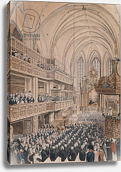 Постер Калау Ф. А. (акв) The inauguration of the city councillors in the Church of St. Nicholas, 1808