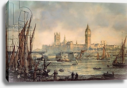 Постер Уиллис Ричард The Houses of Parliament and Westminster Bridge