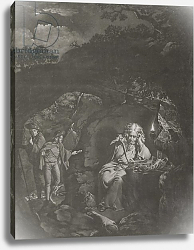Постер Райт Джозеф A Philosopher by Lamplight, engraved by William Pether 1770