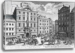 Постер Клейнер Саломон (грав) View of Stock-im-Eisen-Platz, Vienna engraved by Karl Remshard