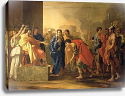 Постер Пуссен Никола (Nicolas Poussin) The Continence of Scipio, 1640