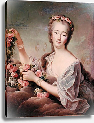 Постер Друаис Франсис Portrait of the Countess du Barry as Flora