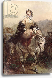 Постер Лами Евген Young Woman on a Horse