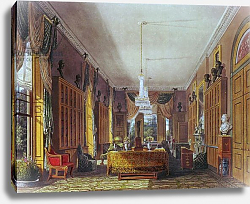 Постер Пайн Уильям (грав) The Queen's Library, Frogmore, Pyne's 'Royal Residences', 1818