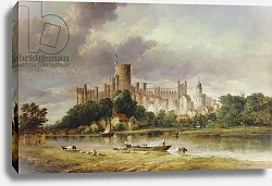 Постер Викерс альфред (грав, москва) A View of Windsor Castle from the Brocas Meadows, 1856