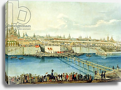 Постер Хампель Чарльз Laying of the Moskvoretsky Bridge in Moscow, 1830