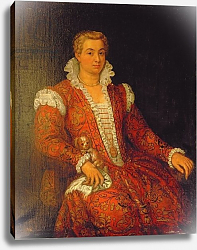 Постер Веронезе Паоло Portrait presumed to be Livia Colonna