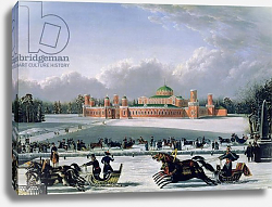 Постер Голицын (19в) Sleigh Race at the Petrovsky Park in Moscow, 1848
