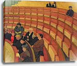 Постер Валлоттон Феликс The Upper Circle at the Theatre du Chatelet, 1895