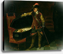 Постер Деларош Ипполит Oliver Cromwell with the Coffin of Charles I 1846