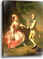 Постер Хадсон Томас Sir John Pole, 5th Baronet, and his Wife, Elizabeth, 1755