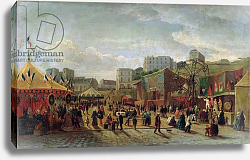 Постер Хуберт (19в) A Fair, Place Saint-Pierre, Montmartre in 1861